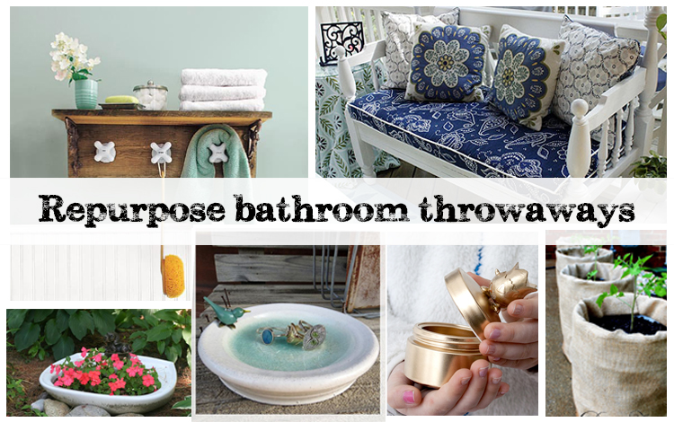 Ideas for best out of waste for your bathroom dogreen for Best out of waste things