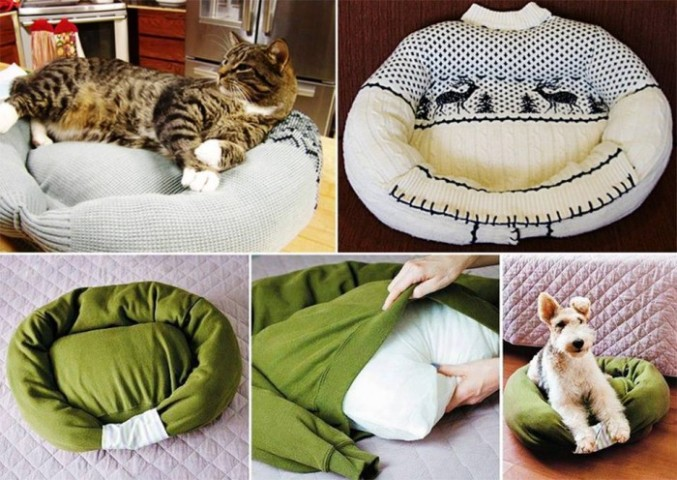 Image Courtesy: http://diycozyhome.com/homemade-cat-or-dog-bed/