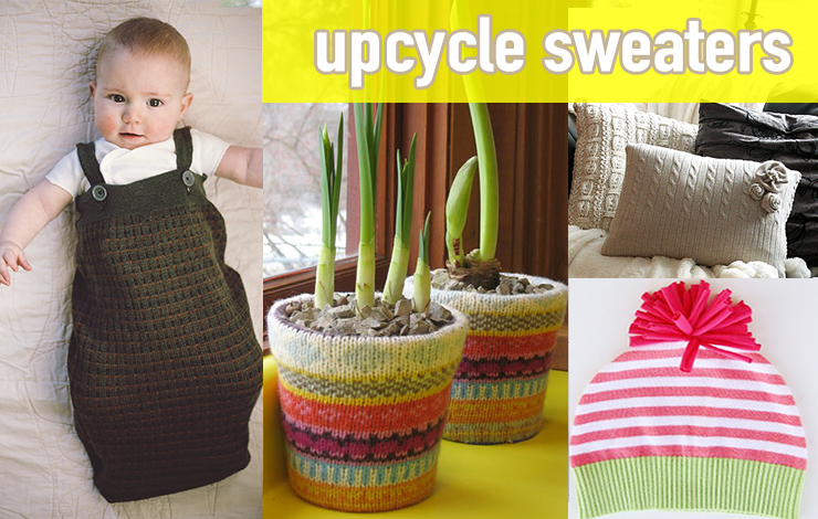 upcycle old sweaters