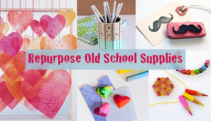 repurpose old school supplies