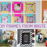 DIY frames from waste