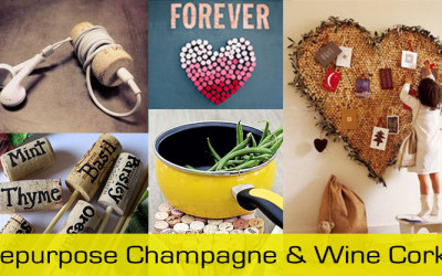 repurpose champagne and wine corks