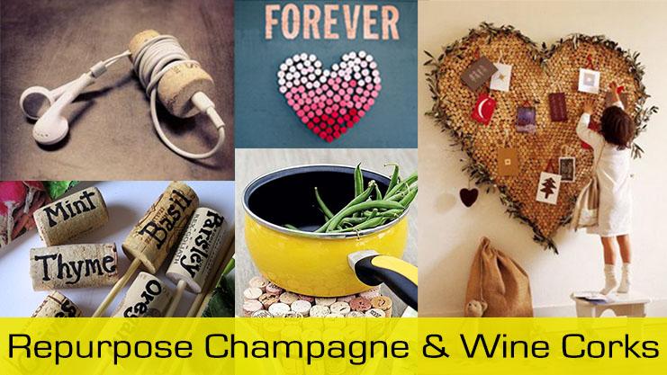 repurpose champagne and wine corks